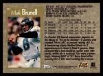 1996 Topps #60  Mark Brunell  Back Thumbnail