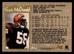 1996 Topps #141  Ricardo McDonald  Back Thumbnail