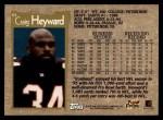 1996 Topps #61  Craig Heyward  Back Thumbnail