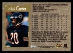 1996 Topps #73  Mark Carrier  Back Thumbnail