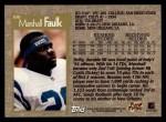 1996 Topps #100  Marshall Faulk  Back Thumbnail