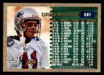 1996 Topps #381   -  Drew Bledsoe 3000 Yard Club Back Thumbnail