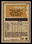 1996 Topps #429  Alex Molden  Back Thumbnail