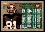 1996 Topps #251  Carl Pickens  Back Thumbnail