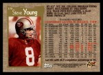 1996 Topps #370  Steve Young  Back Thumbnail