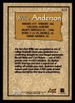 1996 Topps #431  Willie Anderson  Back Thumbnail