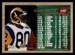 1996 Topps #242  Isaac Bruce  Back Thumbnail