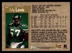 1996 Topps #345  Mo Lewis  Back Thumbnail