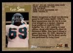 1996 Topps #276  Keith Sims  Back Thumbnail