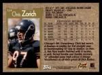 1996 Topps #324  Chris Zorich  Back Thumbnail