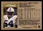 1996 Topps #357  Jeff Herrod  Back Thumbnail