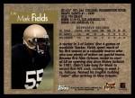 1996 Topps #336  Mark Fields  Back Thumbnail
