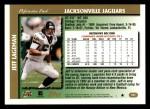 1997 Topps #181  Jeff Lageman  Back Thumbnail