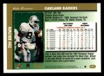 1997 Topps #341  Tim Brown  Back Thumbnail
