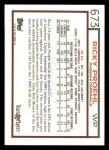 1992 Topps #673  Ricky Proehl  Back Thumbnail
