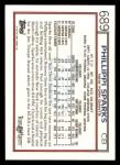 1992 Topps #689  Phillippi Sparks  Back Thumbnail