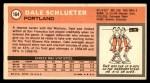 1970 Topps #164  Dale Schlueter   Back Thumbnail