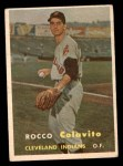 1957 Topps #212  Rocky Colavito  Front Thumbnail