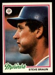 1978 Topps #422  Steve Braun  Front Thumbnail