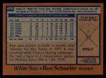 1978 Topps #409  Ron Schueler  Back Thumbnail