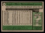 1979 Topps #48  Merv Rettenmund  Back Thumbnail