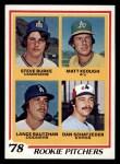 1978 Topps #709   -  Steve Burke / Matt Keough / Lance Rautzhan / Dan Schatzeder Rookie Pitchers   Front Thumbnail