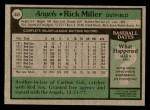 1979 Topps #654  Rick Miller  Back Thumbnail