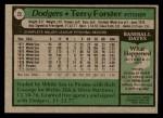 1979 Topps #23  Terry Forster  Back Thumbnail