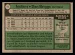 1979 Topps #77  Dan Briggs  Back Thumbnail