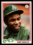 1978 Topps #658  Manny Sanguillen  Front Thumbnail