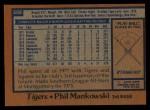 1978 Topps #559  Phil Mankowski  Back Thumbnail