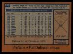 1978 Topps #575  Pat Dobson  Back Thumbnail