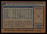 1978 Topps #602  Eric Soderholm  Back Thumbnail