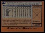 1978 Topps #516  Gary Beare  Back Thumbnail