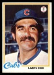 1978 Topps #541  Larry Cox  Front Thumbnail