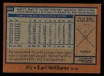 1978 Topps #604  Earl Williams  Back Thumbnail