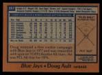 1978 Topps #267  Doug Ault  Back Thumbnail
