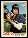 1978 Topps #552  Francisco Barrios  Front Thumbnail