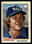 1978 Topps #251  Don Kirkwood  Front Thumbnail
