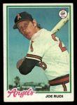 1978 Topps #635  Joe Rudi  Front Thumbnail
