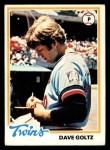 1978 Topps #249  Dave Goltz  Front Thumbnail