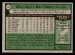 1979 Topps #131  Jim Clancy  Back Thumbnail