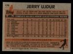 1983 Topps #174  Jerry Ujdur  Back Thumbnail