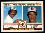 1983 Topps #21   -  Eddie Murray / Jim Palmer Orioles Leaders Front Thumbnail