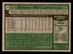 1979 Topps #133  Bill Castro  Back Thumbnail