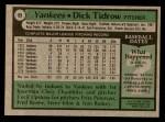 1979 Topps #89  Dick Tidrow  Back Thumbnail