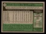 1979 Topps #266  Jim Willoughby  Back Thumbnail