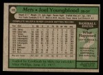 1979 Topps #109  Joel Youngblood  Back Thumbnail