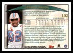 1998 Topps #102  Derrick Mason  Back Thumbnail
