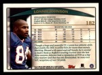 1998 Topps #182  Lonnie Johnson  Back Thumbnail